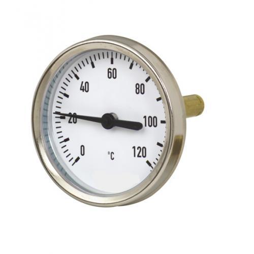 Termometras bimetalinis su galiniu pajungimu d40mm