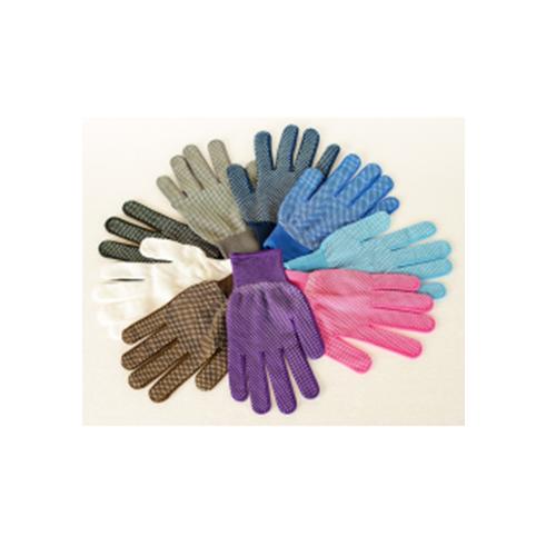 Pirštinės nailoninės su taškeliais, spalvotos
