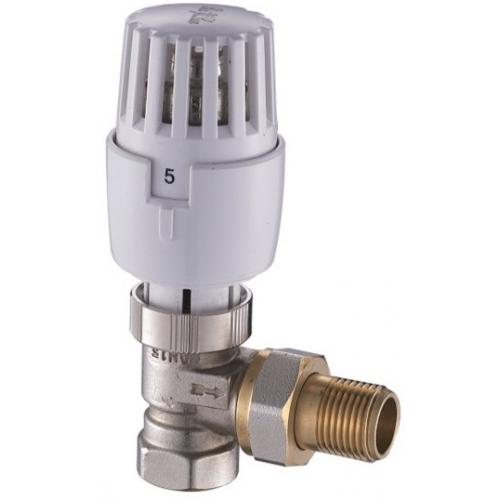 """Termostatinis ventilis su reguliavimo galvute ASB kampinis 1/2"""""""