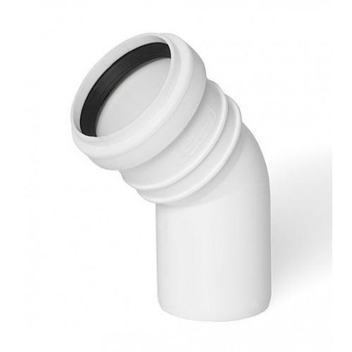 Alkūnė su gumine tarpine balta d32